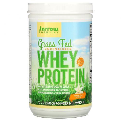 Jarrow Formulas, Grass Fed Whey Protein, Vanilla Flavor , 13 oz (370 g)