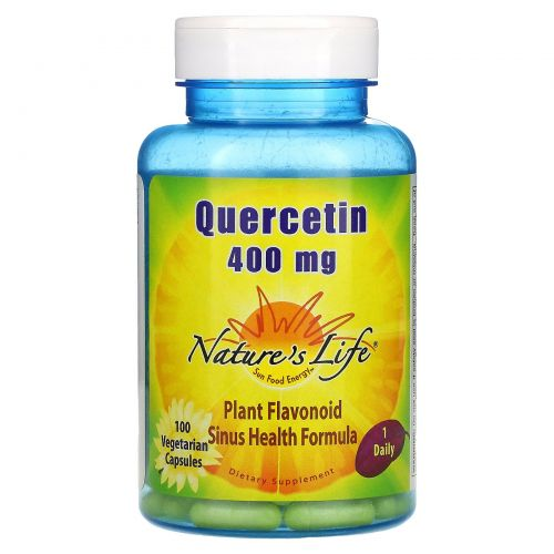 Nature's Life, Кверцетин, 400 мг, 100 капсул