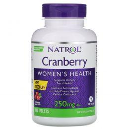 Natrol, Клюква, быстрорастворимые, 250 мг, 120 таблеток