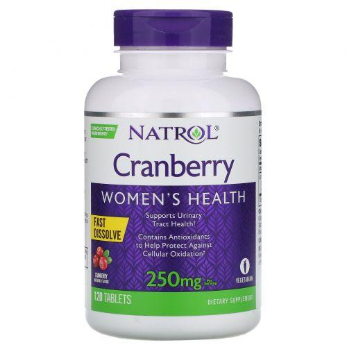 Natrol, Быстрорастворимый продукт со вкусом клюквы, 250 мг, 120 таблеток