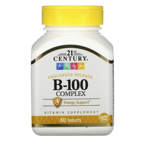 21st Century, Комплекс B-100, длительное высвобождение, 60 таблеток