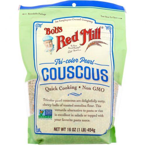 Bob's Red Mill, Трехцветный жемчужный кускус, 454г (16унций)