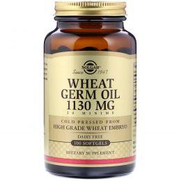Solgar, Масло зародышей пшеницы, 1130 мг, 100 капсул