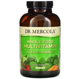 Dr. Mercola, Цельнопищевые мультивитамины плюс важные минералы, 240 таблеток