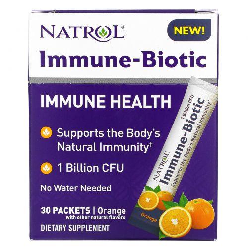 Natrol, Immune-Biotic, апельсин, 1млрд КОЕ, 30пакетиков
