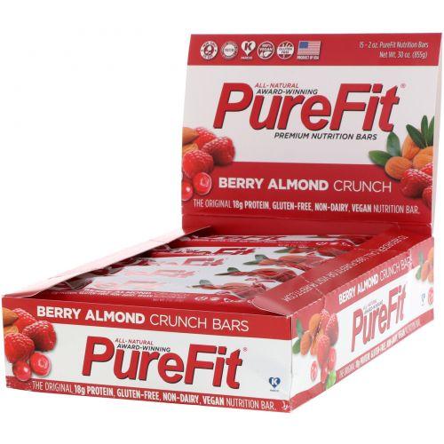 Pure Fit Bars, Premium Nutrition Bars, Хрустящий Миндаль с Ягодами, 15 штук по 2 унции (57 г) каждая