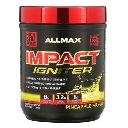 ALLMAX Nutrition, IMPACT Igniter, предтренировочный, цитруллина малат + бета-аланин + NAC, ананас и манго, 11,6 унц.(328 г)