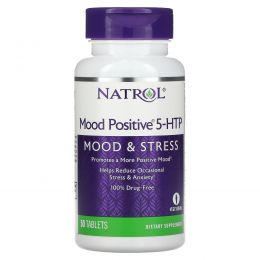 Natrol, Mood Positive 5-HTP, 50 таблеток