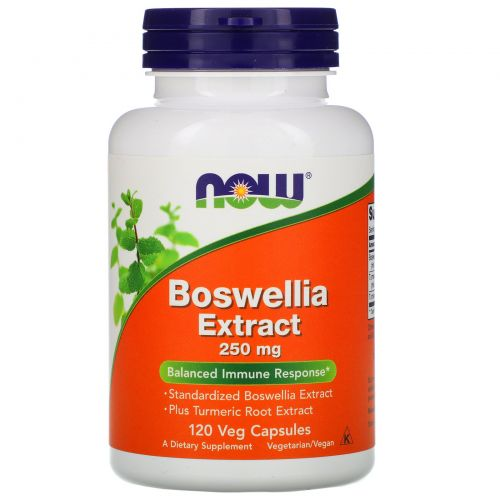 Now Foods, Экстракт босвеллии, 250 мг, 120 вегетарианские капсулы