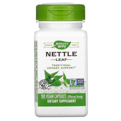 Nature's Way, Nettle Leaf,  435 мг, 100 капсул