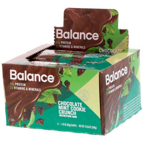 Balance Bar, Питательный батончик, шоколадное пирожное с мятой, 6 батончиков, 50 г