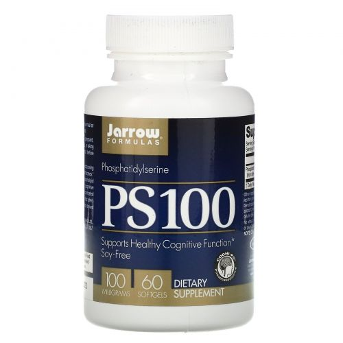 Jarrow Formulas, PS 100, Фосфатидилсерин, 100 мг, 60 гелевых капсул