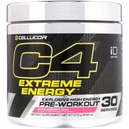 Cellucor, C4 Extreme Energy, предтренировочный, клубника и киви, 9,52 унц. (195 г)