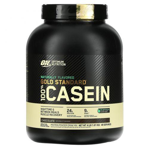 Optimum Nutrition, Золотой стандарт, 100%-ный казеин, шоколадный крем, 4 фунта (1,81 кг)