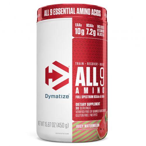 Dymatize Nutrition, All 9 Amino, Сочный арбуз, 15,87 унц. (450 г)