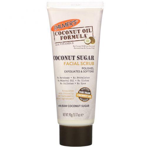 Palmer's, Coconut Oil Formula, Coconut Sugar Facial Scrub, 3.17 oz (90 g)