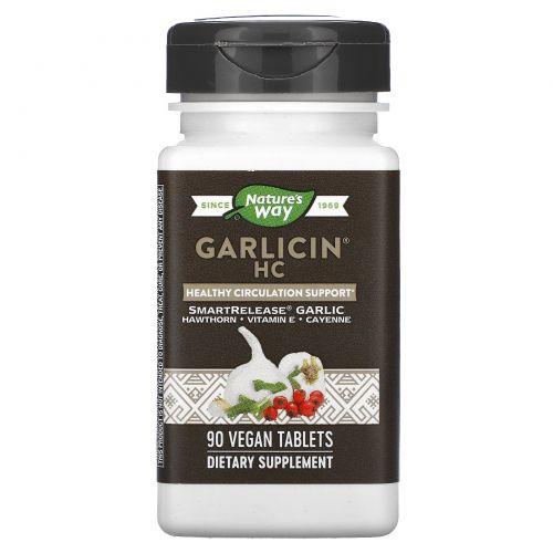 Nature's Way, Garlicin HC, для кровообращения, без запаха, 90 таблеток