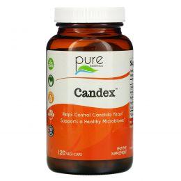 Pure Essence, Кандекс, дрожжевой комплекс, 120 капсул в растительной оболочке