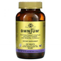 Solgar, Омниум, богатый растительными компонентами мультивитаминно-минеральный состав, 180 таблеток