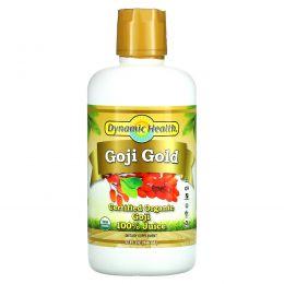 Dynamic Health  Laboratories, Органический, Goji Gold (годжи), 32 жидкие унции (946 мл)