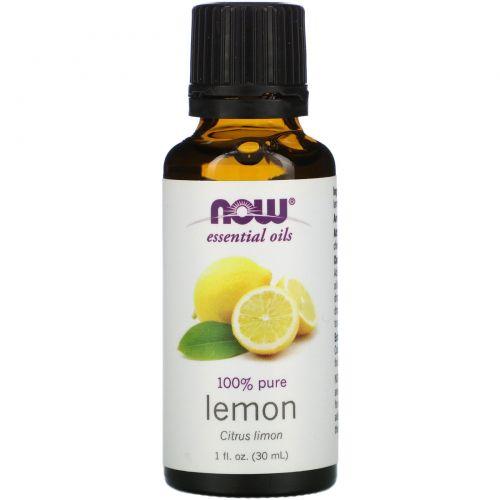 Now Foods, Эфирное масло лимона, 1 жидкая унция (30 мл)