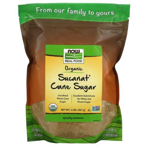 Now Foods, Здоровое питание, Sucanat, органический сахарный тростник, 2 фунта (908 г)