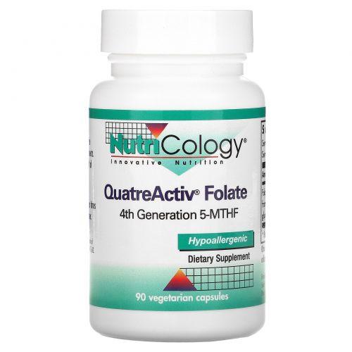 Nutricology, Фолат QuatreActiv, 90 вегетарианских капсул