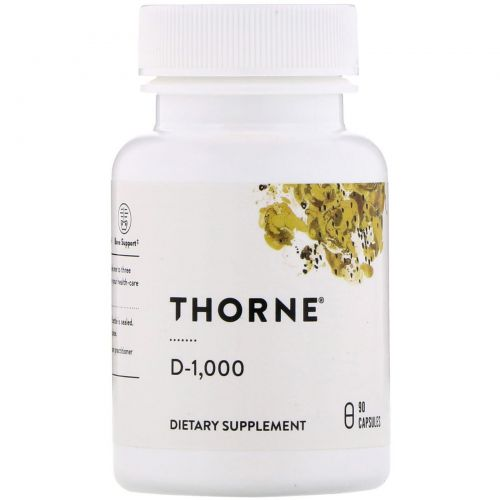 Thorne Research, D-1000, 90 Capsules