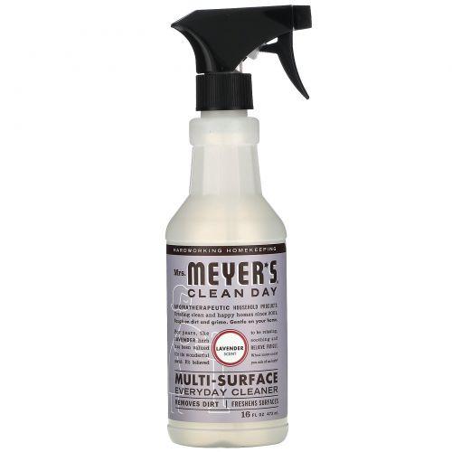 Mrs. Meyers Clean Day, Средство для очищения различного рода поверхностей, с запахом лаванды, 16 жидких унций (473 мл)