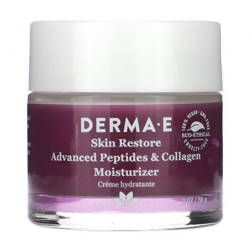 Derma E, Усовершенствованный увлажняющий крем с пептидами и коллагеном, 2 унц. (56 г)