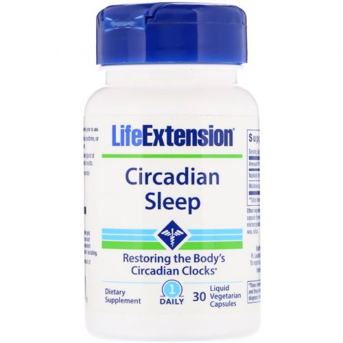 Life Extension, Circadian Sleep , 30 Liquid Vegetarian Capsules