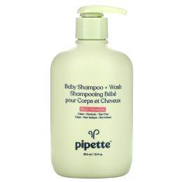 Pipette, Baby Shampoo + Wash, Rose + Geranium, 12 fl oz (354 ml)