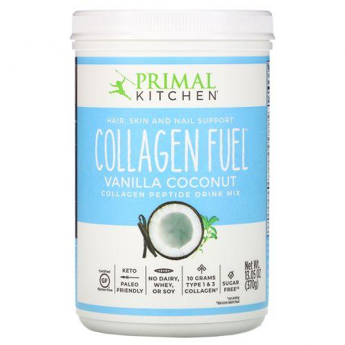 Primal Kitchen, Восстанавливающая смесь для протеинового напитка с высоким содержанием протеина, коллагеновое топливо, ванильно-кокосовый, 14 унций (396г)
