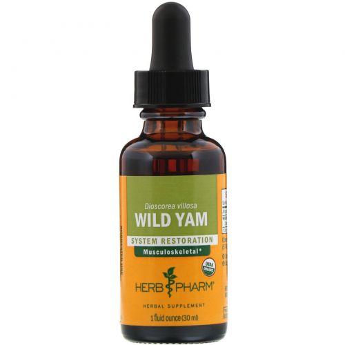 Herb Pharm, Дикий ямс, 1 жидкая унция (29,6 мл)