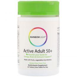 Rainbow Light, Just Once, Для активных людей старше 50, пищевые мультивитамины, 30 таблеток