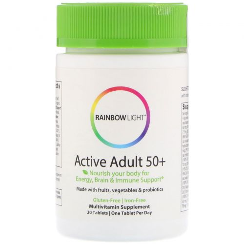 Rainbow Light, Active Adult 50+, 30 таблеток