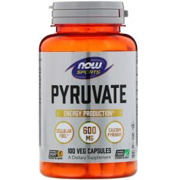Now Foods, Pyruvate , 600 mg , 100 Capsules