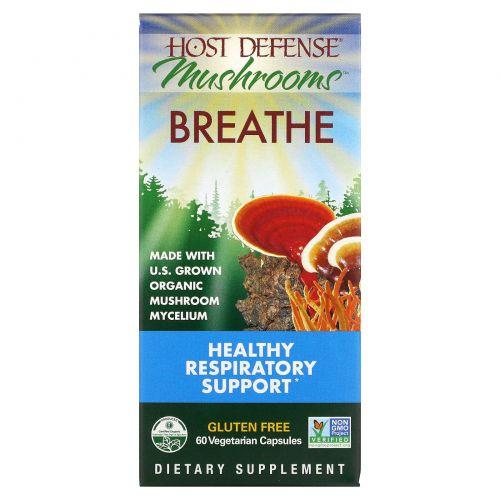 Fungi Perfecti, Host Defense, Breathe, 60 растительных капсул