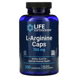 Life Extension, Капсулы L-аргинин, 700 мг, 200 растительных капсул