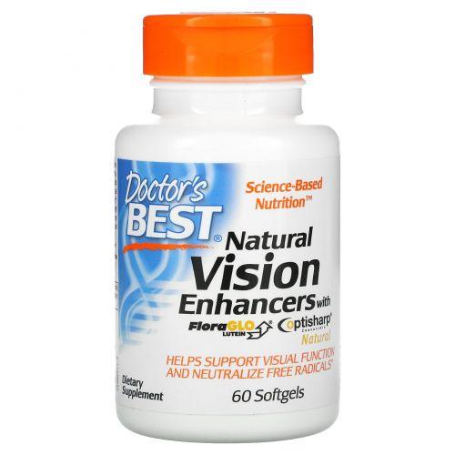 Doctor's Best, Натуральное средство для улучшения зрения, с лютеином FloraGlo, 60 мягких таблеток