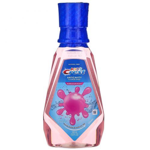 Crest, Kids, Anticavity Fluoride Rinse, Bubblegum Rush, 16.9 fl oz (500 ml)