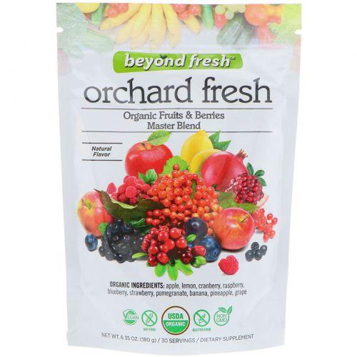 Beyond Fresh, Фруктовая свежесть, эталонная смесь фруктов и ягод, натуральный вкус, 6,35 унц. (180 г)