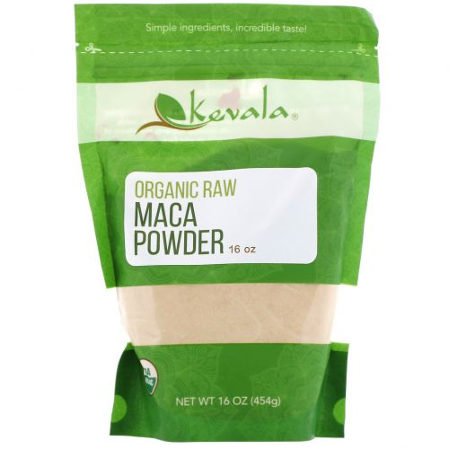 Kevala, Organic Raw Maca Powder, 16 oz.