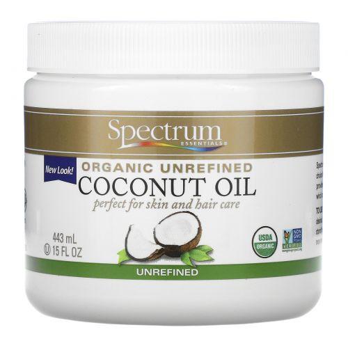 Spectrum Essentials, Органическое, кокосовое масло, нерафинированное, 15 жидких унций (443 мл)