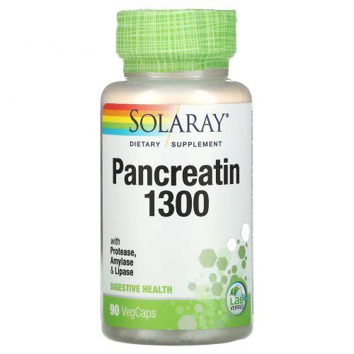 Solaray, Панкреатин 1300, 90 капсул