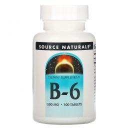 Source Naturals, Витамины B-6, 500 мг, 100 таблеток