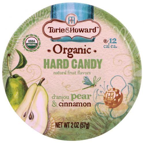 Torie & Howard, Organic, Hard Candy, D' Anjou Pear & Cinnamon, 2 oz (57 g)