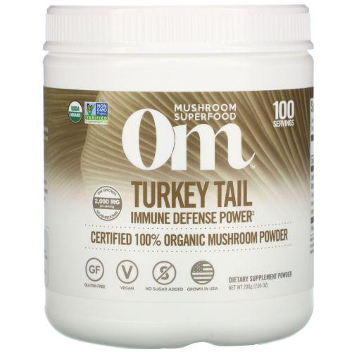 Organic Mushroom Nutrition, Траметес разноцветный, грибной порошок, 7,14 унц. (200 г)