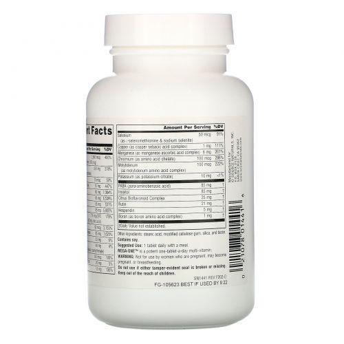 Source Naturals, Мультивитамины Mega-One без железа, 120 таблеток