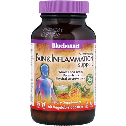 Bluebonnet Nutrition, Целенаправленный выбор, улучшение состояния при боли и воспалении, 60 вегетарианских капсул
